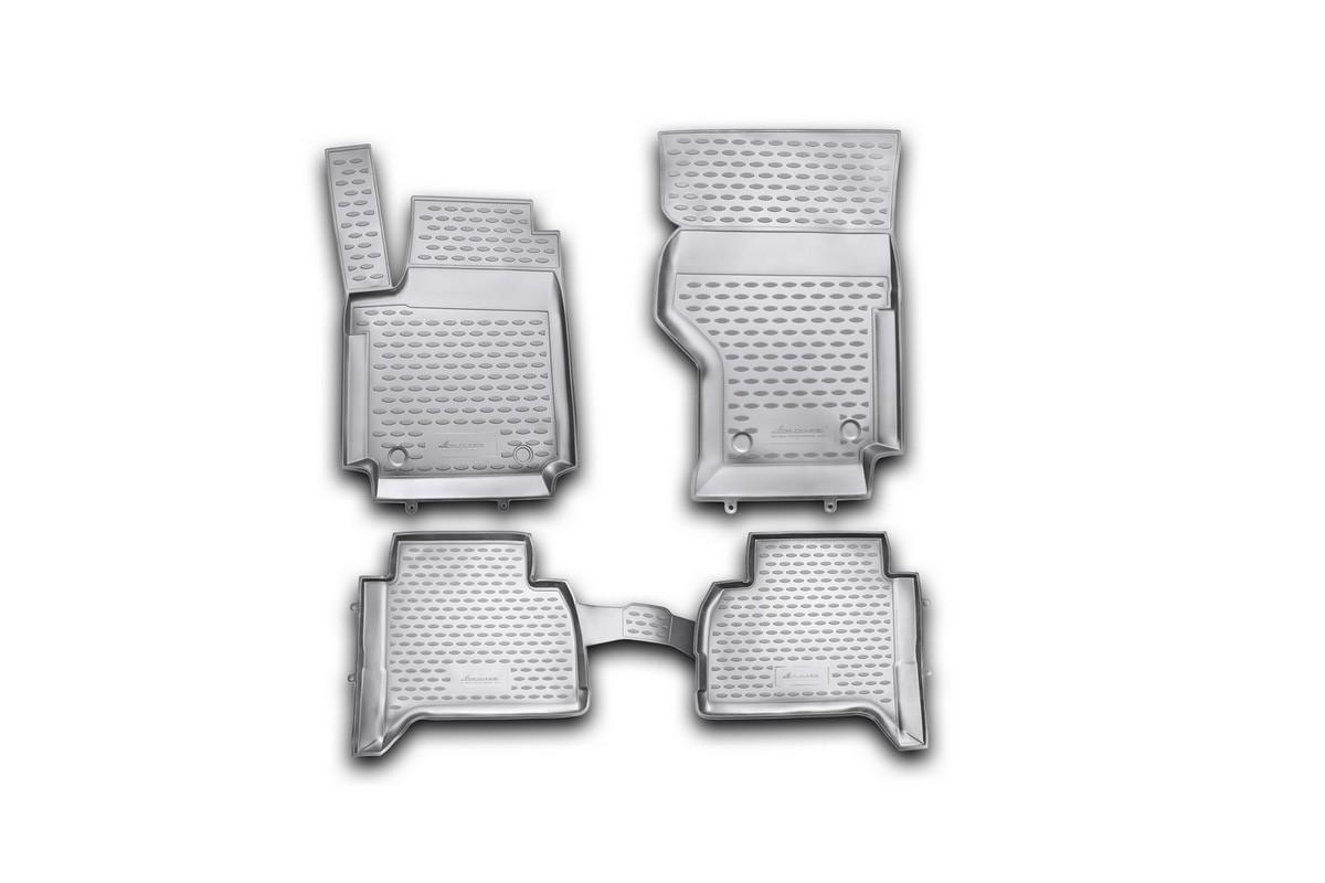 Набор автомобильных ковриков Novline-Autofamily для Volkswagen Amarok 2010-, в салон, 4 штNLC.51.32.210khНабор автомобильных ковриков Novline-Autofamily, изготовленный из полиуретана, состоит из 4 ковриков, которые учитывают все особенности каждой модели автомобиля и полностью повторяют контуры пола. Полиуретановые автомобильные коврики для салона произведены из высококачественного материала, который держит форму, прочный и не пачкает обувь. Коврики в салон не только улучшат внешний вид салона вашего автомобиля, но и надежно уберегут его от пыли, грязи и сырости, а значит, защитят кузов от коррозии. Полиуретановые коврики для автомобиля гладкие, приятные и не пропускают влагу. Ковры для автомобилей надежно крепятся на полу и не скользят, что очень важно во время движения. Чистятся коврики очень просто: как при помощи автомобильного пылесоса, так и различными моющими средствами. Набор подходит для Volkswagen Amarok с 2010 года выпуска.
