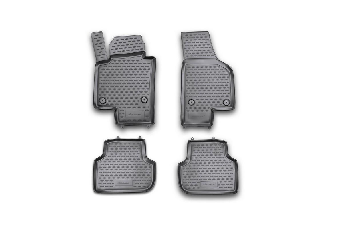 Набор автомобильных ковриков Novline-Autofamily для Volkswagen Jetta 2011-, в салон, 4 штNLC.51.35.210khНабор автомобильных ковриков Novline-Autofamily, изготовленный из полиуретана, состоит из 4 ковриков, которые учитывают все особенности каждой модели автомобиля и полностью повторяют контуры пола. Полиуретановые автомобильные коврики для салона произведены из высококачественного материала, который держит форму, прочный и не пачкает обувь. Коврики в салон не только улучшат внешний вид салона вашего автомобиля, но и надежно уберегут его от пыли, грязи и сырости, а значит, защитят кузов от коррозии. Полиуретановые коврики для автомобиля гладкие, приятные и не пропускают влагу. Ковры для автомобилей надежно крепятся на полу и не скользят, что очень важно во время движения. Чистятся коврики очень просто: как при помощи автомобильного пылесоса, так и различными моющими средствами. Набор подходит для Volkswagen Jetta c 2011 года выпуска.
