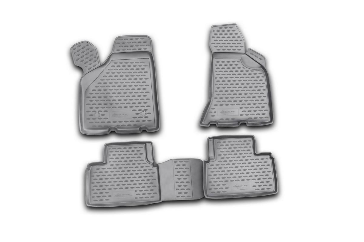 Набор автомобильных ковриков Novline-Autofamily для Lada Priora Coupe 2010-, в салон, 4 шт. NLC.52.22.210kNLC.52.22.210kНабор автомобильных ковриков Novline-Autofamily, изготовленный из полиуретана, состоит из 4 ковриков, которые учитывают все особенности каждой модели автомобиля и полностью повторяют контуры пола. Полиуретановые автомобильные коврики для салона произведены из высококачественного материала, который держит форму, прочный и не пачкает обувь. Коврики в салон не только улучшат внешний вид салона вашего автомобиля, но и надежно уберегут его от пыли, грязи и сырости, а значит, защитят кузов от коррозии. Полиуретановые коврики для автомобиля гладкие, приятные и не пропускают влагу. Ковры для автомобилей надежно крепятся на полу и не скользят, что очень важно во время движения. Чистятся коврики очень просто: как при помощи автомобильного пылесоса, так и различными моющими средствами. Набор подходит для Lada Priora Coupe с 2010 года выпуска.