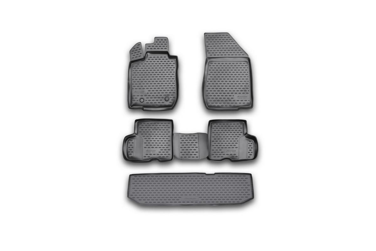 Набор автомобильных ковриков Novline-Autofamily для Lada Largus 2012-, 5 мест, в салон, 4 штNLC.52.27.210kНабор автомобильных ковриков Novline-Autofamily, изготовленный из полиуретана, состоит из 4 ковриков, которые учитывают все особенности каждой модели автомобиля и полностью повторяют контуры пола. Полиуретановые автомобильные коврики для салона произведены из высококачественного материала, который держит форму, прочный и не пачкает обувь. Коврики в салон не только улучшат внешний вид салона вашего автомобиля, но и надежно уберегут его от пыли, грязи и сырости, а значит, защитят кузов от коррозии. Полиуретановые коврики для автомобиля гладкие, приятные и не пропускают влагу. Ковры для автомобилей надежно крепятся на полу и не скользят, что очень важно во время движения. Чистятся коврики очень просто: как при помощи автомобильного пылесоса, так и различными моющими средствами. Набор подходит для Lada Largus 5 мест с 2012 года выпуска.