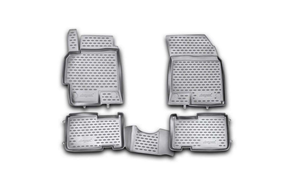 Набор автомобильных ковриков Novline-Autofamily для Chery Crosseaster 2011-, в салон, 4 штNLC.63.13.210khНабор автомобильных ковриков Novline-Autofamily, изготовленный из полиуретана, состоит из 4 ковриков, которые учитывают все особенности каждой модели автомобиля и полностью повторяют контуры пола. Полиуретановые автомобильные коврики для салона произведены из высококачественного материала, который держит форму, прочный и не пачкает обувь. Коврики в салон не только улучшат внешний вид салона вашего автомобиля, но и надежно уберегут его от пыли, грязи и сырости, а значит, защитят кузов от коррозии. Полиуретановые коврики для автомобиля гладкие, приятные и не пропускают влагу. Ковры для автомобилей надежно крепятся на полу и не скользят, что очень важно во время движения. Чистятся коврики очень просто: как при помощи автомобильного пылесоса, так и различными моющими средствами. Набор подходит для Chery Crosseaster с 2011 года выпуска.