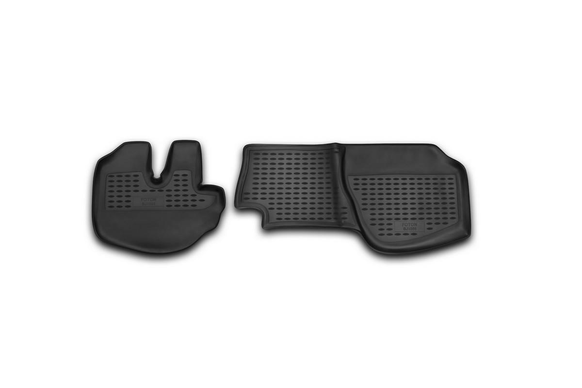 Набор автомобильных ковриков Novline-Autofamily для Foton BJ1069 06/2007-, в салон, 2 штNLC.65.01.210Набор автомобильных ковриков Novline-Autofamily, изготовленный из полиуретана, состоит из 2 ковриков, которые учитывают все особенности каждой модели автомобиля и полностью повторяют контуры пола. Полиуретановые автомобильные коврики для салона произведены из высококачественного материала, который держит форму, прочный и не пачкает обувь. Коврики в салон не только улучшат внешний вид салона вашего автомобиля, но и надежно уберегут его от пыли, грязи и сырости, а значит, защитят кузов от коррозии. Полиуретановые коврики для автомобиля гладкие, приятные и не пропускают влагу. Ковры для автомобилей надежно крепятся на полу и не скользят, что очень важно во время движения. Чистятся коврики очень просто: как при помощи автомобильного пылесоса, так и различными моющими средствами. Набор подходит для Foton BJ1069 с июня 2007 года выпуска.