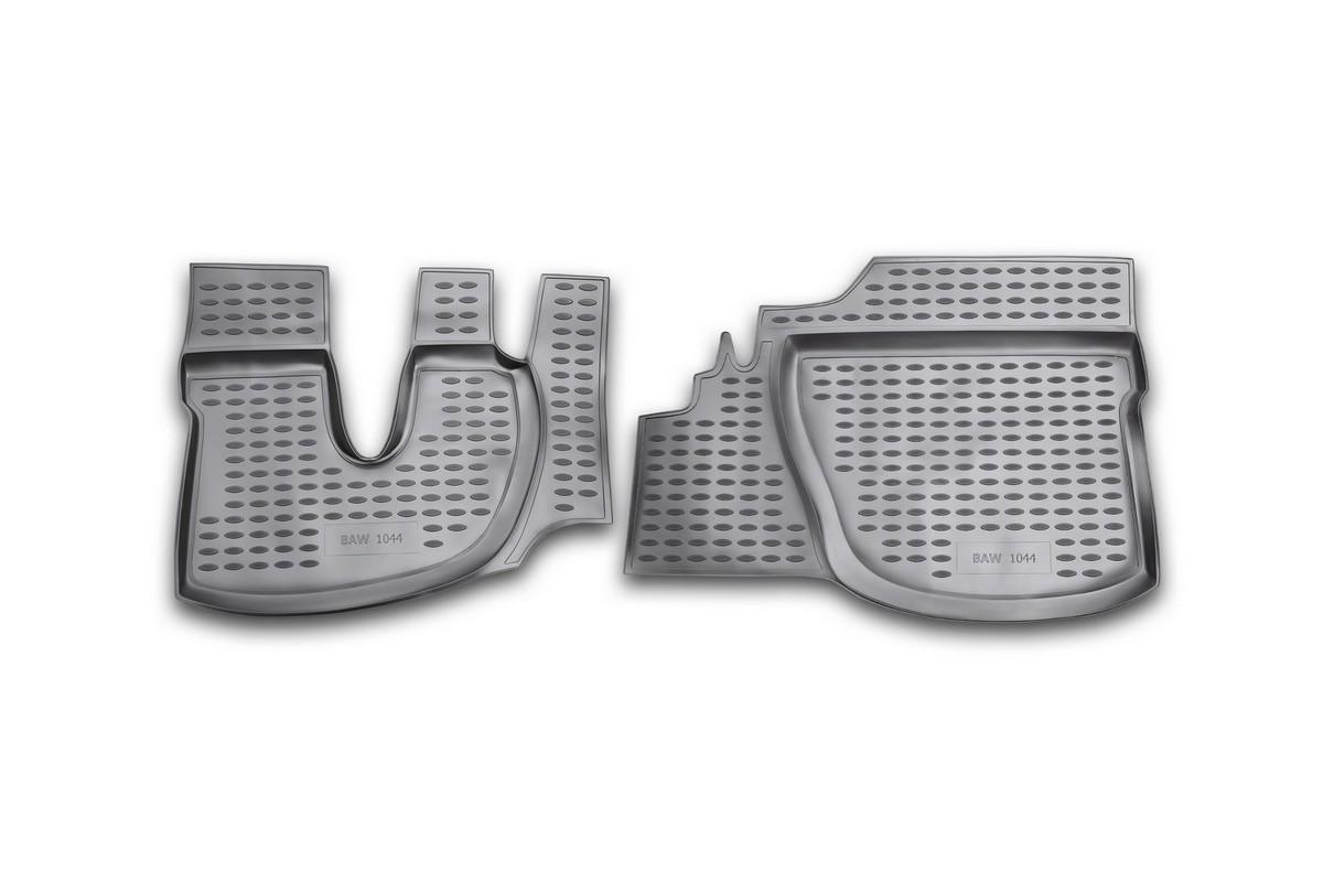Коврики в салон BAW 1044 2005->, 2 шт. (полиуретан)NLC.72.02.210Коврики в салон не только улучшат внешний вид салона вашего автомобиля, но и надежно уберегут его от пыли, грязи и сырости, а значит, защитят кузов от коррозии. Полиуретановые коврики для автомобиля гладкие, приятные и не пропускают влагу. Автомобильные коврики в салон учитывают все особенности каждой модели и полностью повторяют контуры пола. Благодаря этому их не нужно будет подгибать или обрезать. И самое главное — они не будут мешать педалям. Полиуретановые автомобильные коврики для салона произведены из высококачественного материала, который держит форму и не пачкает обувь. К тому же, этот материал очень прочный (его, к примеру, не получится проткнуть каблуком). Некоторые автоковрики становятся источником неприятного запаха в автомобиле. С полиуретановыми ковриками Novline вы можете этого не бояться. Ковры для автомобилей надежно крепятся на полу и не скользят, что очень важно во время движения, особенно для водителя. Автоковры из полиуретана надежно удерживают грязь и влагу, при...