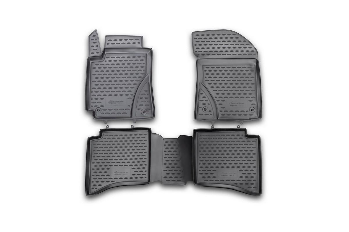 Набор автомобильных ковриков Novline-Autofamily для Geely MK Cross 2012-, в салон, 4 штNLC.75.07.210hНабор автомобильных ковриков Novline-Autofamily, изготовленный из полиуретана, состоит из 4 ковриков, которые учитывают все особенности каждой модели автомобиля и полностью повторяют контуры пола. Полиуретановые автомобильные коврики для салона произведены из высококачественного материала, который держит форму, прочный и не пачкает обувь. Коврики в салон не только улучшат внешний вид салона вашего автомобиля, но и надежно уберегут его от пыли, грязи и сырости, а значит, защитят кузов от коррозии. Полиуретановые коврики для автомобиля гладкие, приятные и не пропускают влагу. Ковры для автомобилей надежно крепятся на полу и не скользят, что очень важно во время движения. Чистятся коврики очень просто: как при помощи автомобильного пылесоса, так и различными моющими средствами. Набор подходит для Geely MK Cross с 2012 года выпуска.