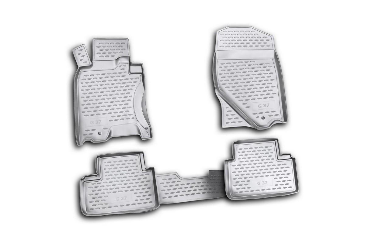 Коврики в салон INFINITI QX56 2004->, 5 шт. (полиуретан)NLC.76.02.210Коврики в салон не только улучшат внешний вид салона вашего автомобиля, но и надежно уберегут его от пыли, грязи и сырости, а значит, защитят кузов от коррозии. Полиуретановые коврики для автомобиля гладкие, приятные и не пропускают влагу. Автомобильные коврики в салон учитывают все особенности каждой модели и полностью повторяют контуры пола. Благодаря этому их не нужно будет подгибать или обрезать. И самое главное — они не будут мешать педалям. Полиуретановые автомобильные коврики для салона произведены из высококачественного материала, который держит форму и не пачкает обувь. К тому же, этот материал очень прочный (его, к примеру, не получится проткнуть каблуком). Некоторые автоковрики становятся источником неприятного запаха в автомобиле. С полиуретановыми ковриками Novline вы можете этого не бояться. Ковры для автомобилей надежно крепятся на полу и не скользят, что очень важно во время движения, особенно для водителя. Автоковры из полиуретана надежно удерживают грязь и влагу, при...