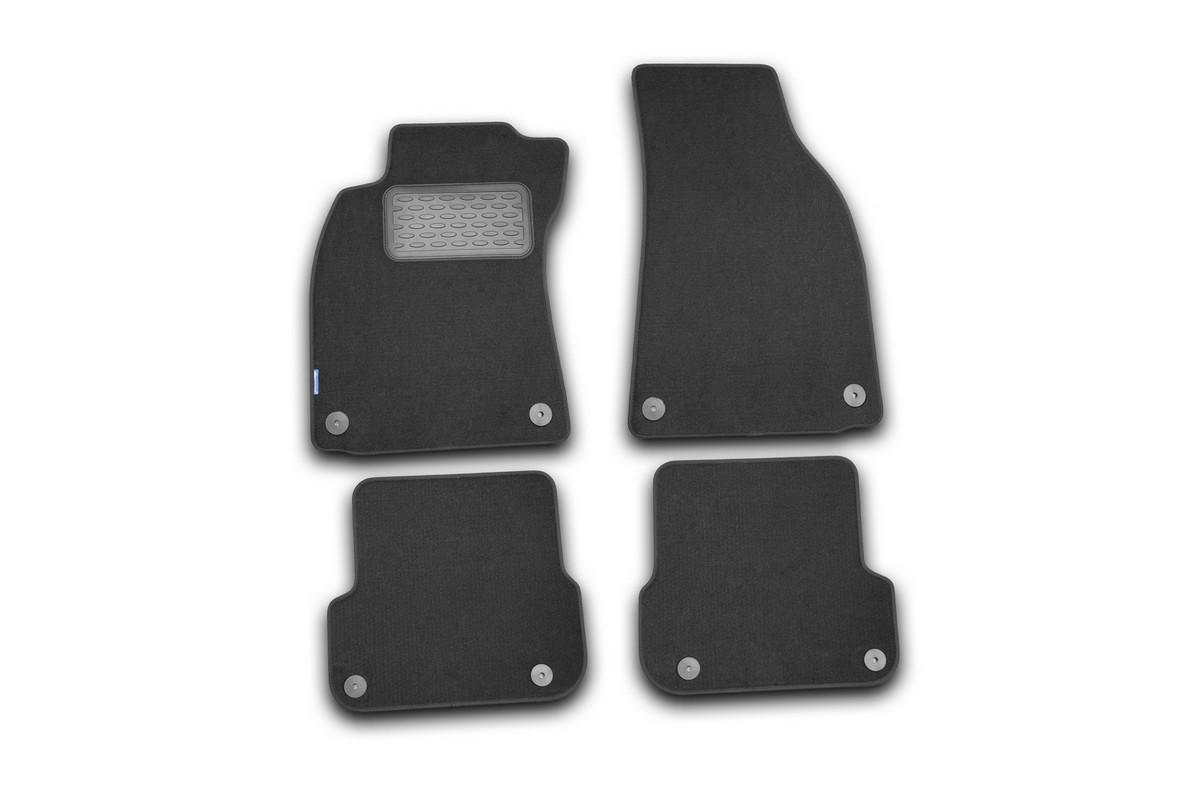 Набор автомобильных ковриков Novline-Autofamily для Audi A6 АКПП 2004-, седан, в салон, 4 шт. NLT.04.08.22.110khNLT.04.08.22.110khНабор автомобильных ковриков Novline-Autofamily, изготовленный из текстиля, состоит из 4 ковриков, которые учитывают все особенности каждой модели автомобиля и полностью повторяют контуры пола. Текстильные автомобильные коврики для салона произведены из высококачественного материала, который держит форму, прочный и не пачкает обувь. Коврики в салон не только улучшат внешний вид салона вашего автомобиля, но и надежно уберегут его от пыли, грязи и сырости, а значит, защитят кузов от коррозии. Текстильные коврики для автомобиля мягкие и приятные, а их основа из вспененного полиуретана не пропускает влагу. Ковры для автомобилей надежно крепятся на полу и не скользят, что очень важно во время движения. Чистятся коврики очень просто: как при помощи автомобильного пылесоса, так и различными моющими средствами. Набор подходит для Audi A6 АКПП с 2004 года выпуска.