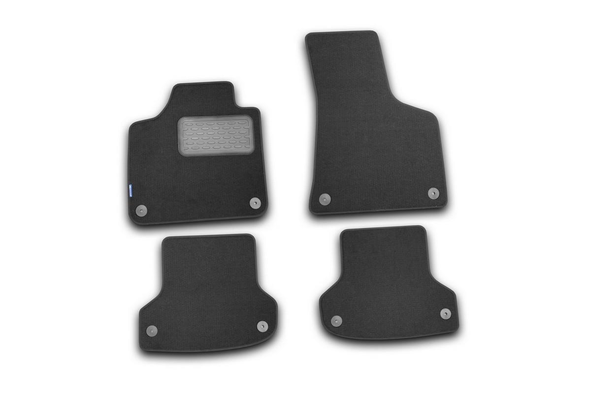 Набор автомобильных ковриков Novline-Autofamily для Audi A3 5D АКПП 2007-, хэтчбек, в салон, 4 штNLT.04.10.11.110khНабор автомобильных ковриков Novline-Autofamily, изготовленный из текстиля, состоит из 4 ковриков, которые учитывают все особенности каждой модели автомобиля и полностью повторяют контуры пола. Текстильные автомобильные коврики для салона произведены из высококачественного материала, который держит форму, прочный и не пачкает обувь. Коврики в салон не только улучшат внешний вид салона вашего автомобиля, но и надежно уберегут его от пыли, грязи и сырости, а значит, защитят кузов от коррозии. Текстильные коврики для автомобиля мягкие и приятные, а их основа из вспененного полиуретана не пропускает влагу. Ковры для автомобилей надежно крепятся на полу и не скользят, что очень важно во время движения. Чистятся коврики очень просто: как при помощи автомобильного пылесоса, так и различными моющими средствами. Набор подходит для Audi A3 5D АКПП хэтчбек с 2007 года выпуска.
