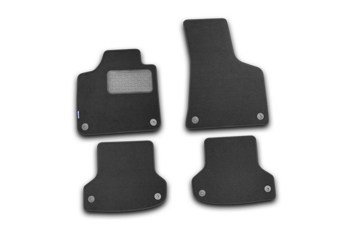Коврики в салон AUDI A3 5D АКПП 2007->, хб., 4 шт. (текстиль). NLT.04.10.22.110khNLT.04.10.22.110khКоврики в салон не только улучшат внешний вид салона вашего автомобиля, но и надежно уберегут его от пыли, грязи и сырости, а значит, защитят кузов от коррозии. Текстильные коврики для автомобиля мягкие и приятные, а их основа из вспененного полиуретана не пропускает влагу.. Автомобильные коврики в салон учитывают все особенности каждой модели авто и полностью повторяют контуры пола. Благодаря этому их не нужно будет подгибать или обрезать. И самое главное — они не будут мешать педалям. Текстильные автомобильные коврики для салона произведены из высококачественного материала, который держит форму и не пачкает обувь. К тому же, этот материал очень прочный (его, к примеру, не получится проткнуть каблуком). Некоторые автоковрики становятся источником неприятного запаха в автомобиле. С текстильными ковриками Novline вы можете этого не бояться. Ковры для автомобилей надежно крепятся на полу и не скользят, что очень важно во время движения, особенно для водителя. Автоковры из текстиля с...