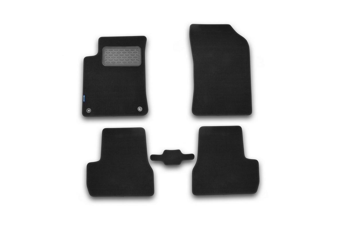 Набор автомобильных ковриков Novline-Autofamily для Citroen DS3 АКПП 2010-, хэтчбек, в салон, 5 штNLT.10.26.11.110khНабор автомобильных ковриков Novline-Autofamily, изготовленный из текстиля, состоит из 5 ковриков, которые учитывают все особенности каждой модели автомобиля и полностью повторяют контуры пола. Текстильные автомобильные коврики для салона произведены из высококачественного материала, который держит форму, прочный и не пачкает обувь. Коврики в салон не только улучшат внешний вид салона вашего автомобиля, но и надежно уберегут его от пыли, грязи и сырости, а значит, защитят кузов от коррозии. Текстильные коврики для автомобиля мягкие и приятные, а их основа из вспененного полиуретана не пропускает влагу. Ковры для автомобилей надежно крепятся на полу и не скользят, что очень важно во время движения. Чистятся коврики очень просто: как при помощи автомобильного пылесоса, так и различными моющими средствами. Набор подходит для Citroen DS3 АКПП хэтчбек с 2010 года выпуска.