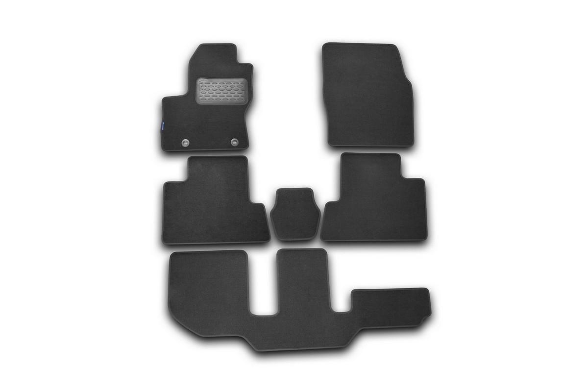 Набор автомобильных ковриков Novline-Autofamily для Ford Grand C-Max 2010-, универсал, в салон, 6 шт коврик в багажник novline ford grand c max 11 2010 разложенные сиденья заднего ряда полиуретан b000 19