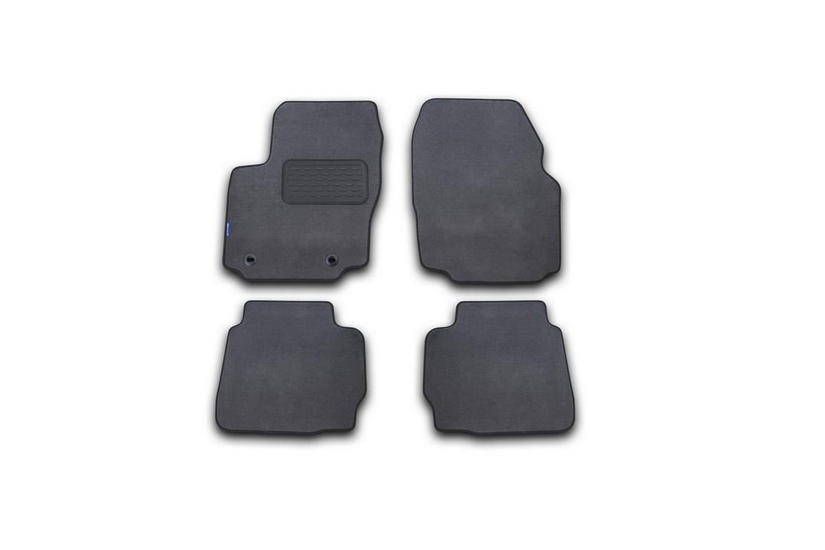 Набор автомобильных ковриков Novline-Autofamily для Ford Mondeo 2011-2014, седан, в салон, цвет: серый, 4 шт. NLT.16.33.11.111khNLT.16.33.11.111khНабор автомобильных ковриков Novline-Autofamily, изготовленный из текстиля, состоит из 4 ковриков, которые учитывают все особенности каждой модели автомобиля и полностью повторяют контуры пола. Текстильные автомобильные коврики для салона произведены из высококачественного материала, который держит форму, прочный и не пачкает обувь. Коврики в салон не только улучшат внешний вид салона вашего автомобиля, но и надежно уберегут его от пыли, грязи и сырости, а значит, защитят кузов от коррозии. Текстильные коврики для автомобиля мягкие и приятные, а их основа из вспененного полиуретана не пропускает влагу. Ковры для автомобилей надежно крепятся на полу и не скользят, что очень важно во время движения. Чистятся коврики очень просто: как при помощи автомобильного пылесоса, так и различными моющими средствами. Набор подходит для Ford Mondeo седан 2011-2014 годов выпуска.