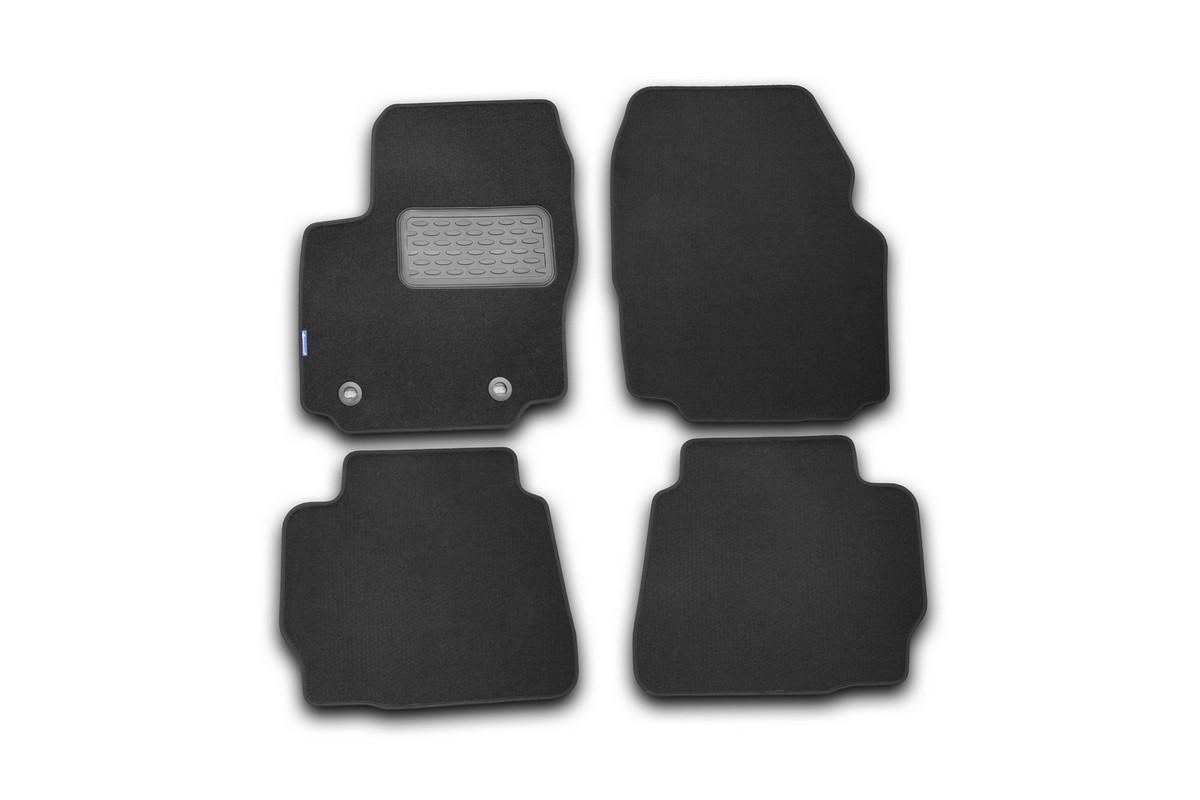 Набор автомобильных ковриков Novline-Autofamily для Ford Mondeo 2011-2014, в салон, седан, цвет: черный, 4 шт. NLT.16.33.22.110khNLT.16.33.22.110khНабор автомобильных ковриков Novline-Autofamily, изготовленный из текстиля, состоит из 4 ковриков, которые учитывают все особенности каждой модели автомобиля и полностью повторяют контуры пола. Текстильные автомобильные коврики для салона произведены из высококачественного материала, который держит форму, прочный и не пачкает обувь. Коврики в салон не только улучшат внешний вид салона вашего автомобиля, но и надежно уберегут его от пыли, грязи и сырости, а значит, защитят кузов от коррозии. Текстильные коврики для автомобиля мягкие и приятные, а их основа из вспененного полиуретана не пропускает влагу. Ковры для автомобилей надежно крепятся на полу и не скользят, что очень важно во время движения. Чистятся коврики очень просто: как при помощи автомобильного пылесоса, так и различными моющими средствами. Набор подходит для Ford Mondeo седан 2011-2014 годов выпуска.