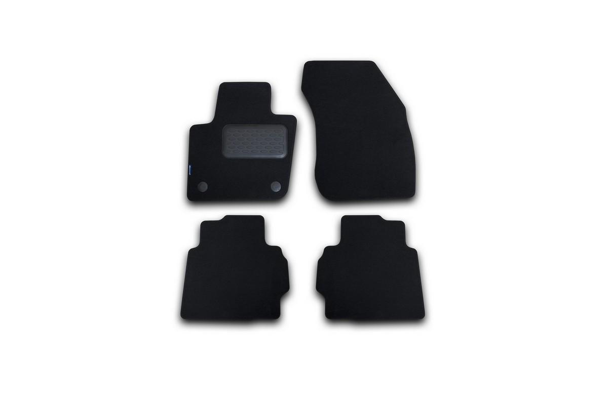 Набор автомобильных ковриков Novline-Autofamily для Ford Mondeo 2015-, седан, в салон, цвет: черный, 4 шт. NLT.16.66.22.110khNLT.16.66.22.110khНабор автомобильных ковриков Novline-Autofamily, изготовленный из текстиля, состоит из 4 ковриков, которые учитывают все особенности каждой модели автомобиля и полностью повторяют контуры пола. Текстильные автомобильные коврики для салона произведены из высококачественного материала, который держит форму, прочный и не пачкает обувь. Коврики в салон не только улучшат внешний вид салона вашего автомобиля, но и надежно уберегут его от пыли, грязи и сырости, а значит, защитят кузов от коррозии. Текстильные коврики для автомобиля мягкие и приятные, а их основа из вспененного полиуретана не пропускает влагу. Ковры для автомобилей надежно крепятся на полу и не скользят, что очень важно во время движения. Чистятся коврики очень просто: как при помощи автомобильного пылесоса, так и различными моющими средствами. Набор подходит для Ford Mondeo седан с 2015 года выпуска.