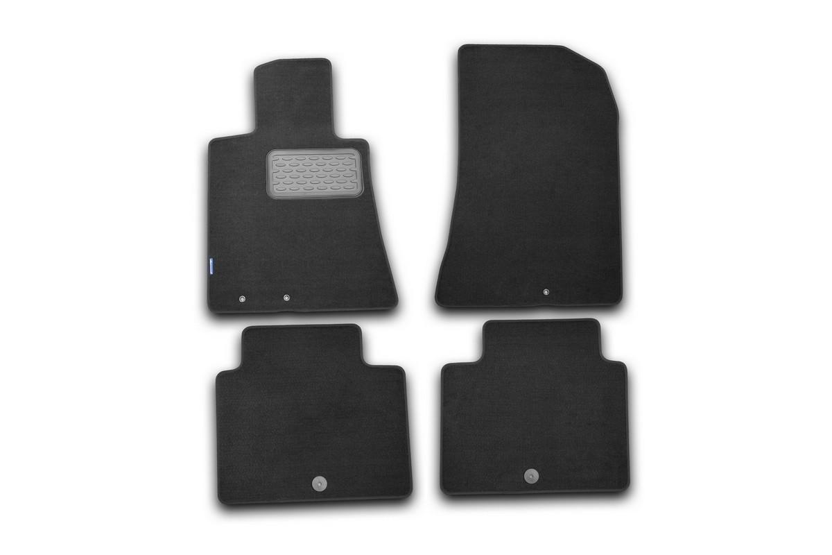 """Набор автомобильных ковриков """"Novline-Autofamily"""" для Hyundai Genesis 2008-, седан, в салон, цвет: черный, 4 шт. NLT.20.31.11.110kh"""