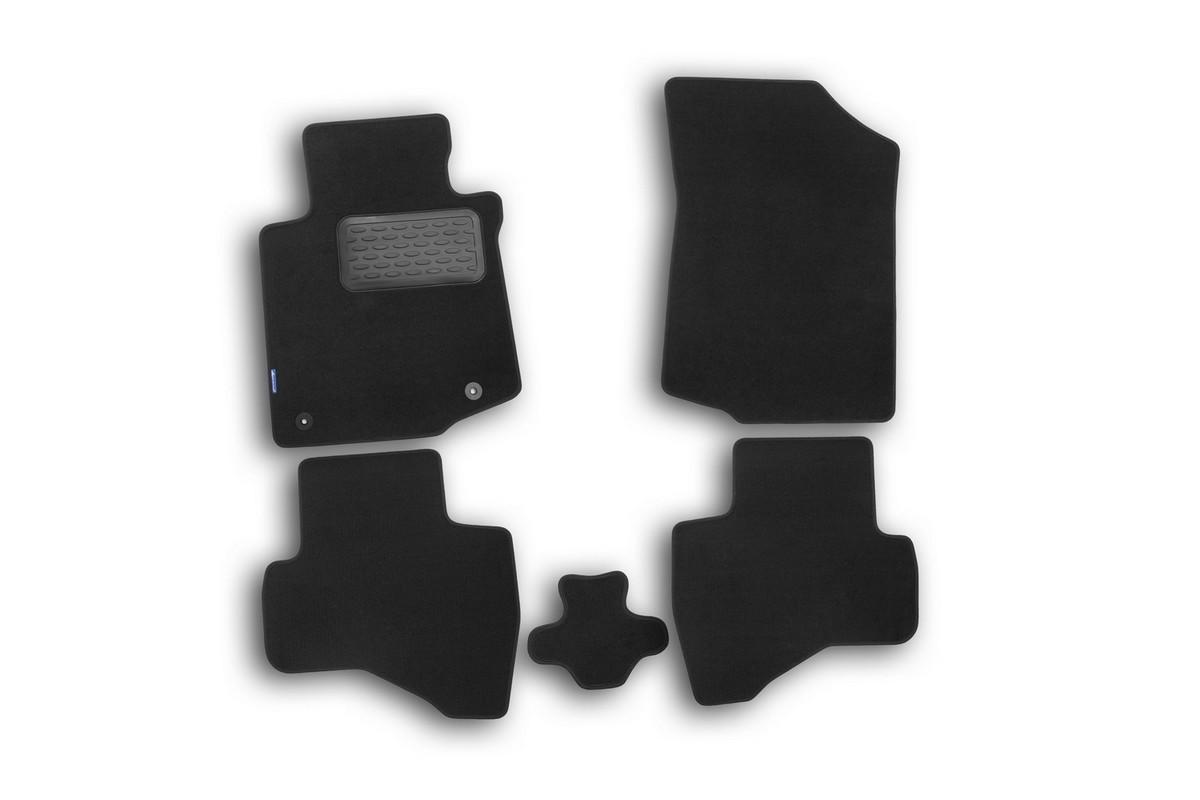 Набор автомобильных ковриков Novline-Autofamily для Peugeot 107 3D, 5D 2005-, хэтчбек, в салон, 5 шт. NLT.38.07.11.110khNLT.38.07.11.110khНабор автомобильных ковриков Novline-Autofamily, изготовленный из текстиля, состоит из 5 ковриков, которые учитывают все особенности каждой модели автомобиля и полностью повторяют контуры пола. Текстильные автомобильные коврики для салона произведены из высококачественного материала, который держит форму, прочный и не пачкает обувь. Коврики в салон не только улучшат внешний вид салона вашего автомобиля, но и надежно уберегут его от пыли, грязи и сырости, а значит, защитят кузов от коррозии. Текстильные коврики для автомобиля мягкие и приятные, а их основа из вспененного полиуретана не пропускает влагу. Ковры для автомобилей надежно крепятся на полу и не скользят, что очень важно во время движения. Чистятся коврики очень просто: как при помощи автомобильного пылесоса, так и различными моющими средствами. Набор подходит для Peugeot 107 3D, 5D хэтчбек с 2005 года выпуска.