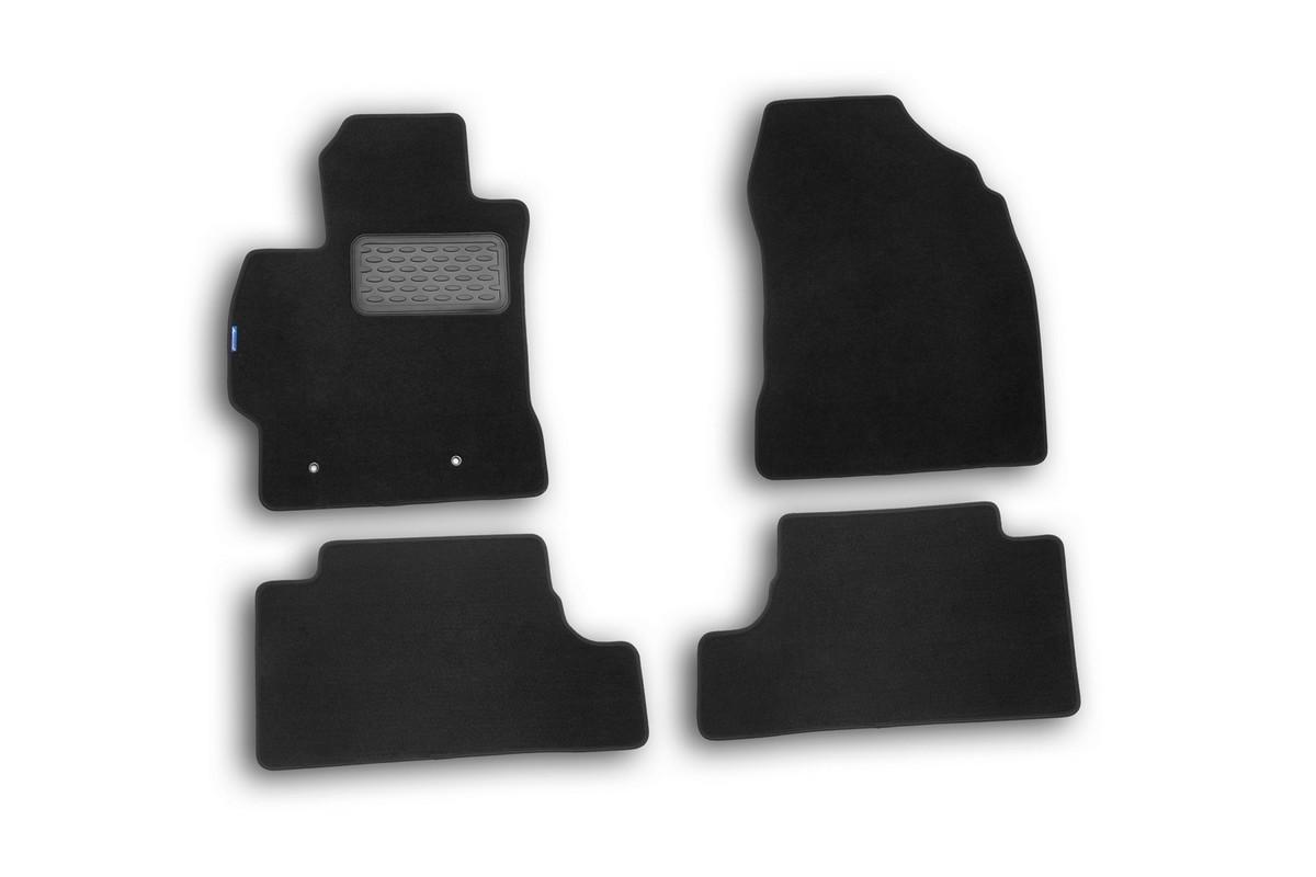 Набор автомобильных ковриков Novline-Autofamily для Toyota Corolla 2007-, седан, в салон, 4 штNLT.48.51.11.110khНабор автомобильных ковриков Novline-Autofamily, изготовленный из текстиля, состоит из 4 ковриков, которые учитывают все особенности каждой модели автомобиля и полностью повторяют контуры пола. Текстильные автомобильные коврики для салона произведены из высококачественного материала, который держит форму, прочный и не пачкает обувь. Коврики в салон не только улучшат внешний вид салона вашего автомобиля, но и надежно уберегут его от пыли, грязи и сырости, а значит, защитят кузов от коррозии. Текстильные коврики для автомобиля мягкие и приятные, а их основа из вспененного полиуретана не пропускает влагу. Ковры для автомобилей надежно крепятся на полу и не скользят, что очень важно во время движения. Чистятся коврики очень просто: как при помощи автомобильного пылесоса, так и различными моющими средствами. Набор подходит для Toyota Corolla седан с 2007 года выпуска.