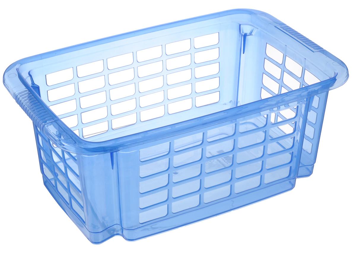 Корзина для хранения Dunya Plastik Стакер, цвет: синий, 31 х 20 х 12,5 см5516_синийКлассическая корзина Dunya Plastik Стакер, изготовленная из пластика, предназначена для хранения мелочей в ванной, на кухне, даче или гараже. Позволяет хранить мелкие вещи, исключая возможность их потери. Это легкая корзина со сплошным дном, жесткой кромкой, с небольшими отверстиями на стенках. Корзина имеет специальные выемки внизу и вверху, позволяющие устанавливать корзины друг на друга. Объем: 5,5 л.