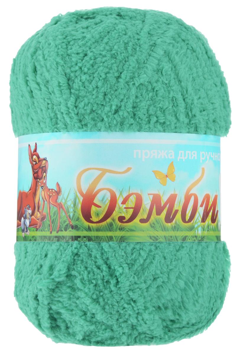 Пряжа для вязания Nazar Бэмби, цвет: зеленая бирюза (2571), 142 м, 50 г, 10 шт580824_2571 зел.бирюзаПряжа для ручного вязания Nazar Бэмби изготовлена из 100% микрополиэстера. Это очень мягкая, плюшевая пряжа с коротким ворсом. Идеально подходит для вязания детской одежды - вещи получаются нежными и приятными на ощупь. Также хорошо получаются игрушки, пледы, декоративные подушки. Рекомендуемые спицы 3-4 мм, крючок - 2-3 мм. Состав: 100% микрополиэстер. Количество мотков: 10 шт.