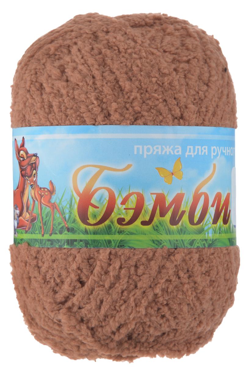 Пряжа для вязания Nazar Бэмби, цвет: коричневый (2756), 142 м, 50 г, 10 шт580824_2756 коричневыйПряжа для ручного вязания Nazar Бэмби изготовлена из 100% микрополиэстера. Это очень мягкая, плюшевая пряжа с коротким ворсом. Идеально подходит для вязания детской одежды - вещи получаются нежными и приятными на ощупь. Также хорошо получаются игрушки, пледы, декоративные подушки. Рекомендуемые спицы 3-4 мм, крючок - 2-3 мм. Состав: 100% микрополиэстер. Количество мотков: 10 шт.