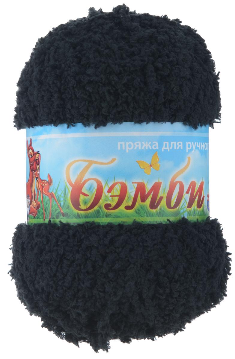 Пряжа для вязания Nazar Бэмби, цвет: черный (2510), 142 м, 50 г, 10 шт580824_2510 черныйПряжа для ручного вязания Nazar Бэмби изготовлена из 100% микрополиэстера. Это очень мягкая, плюшевая пряжа с коротким ворсом. Идеально подходит для вязания детской одежды - вещи получаются нежными и приятными на ощупь. Также хорошо получаются игрушки, пледы, декоративные подушки. Рекомендуемые спицы 3-4 мм, крючок 2-3 мм. Состав: 100% микрополиэстер. Количество мотков: 10 шт.