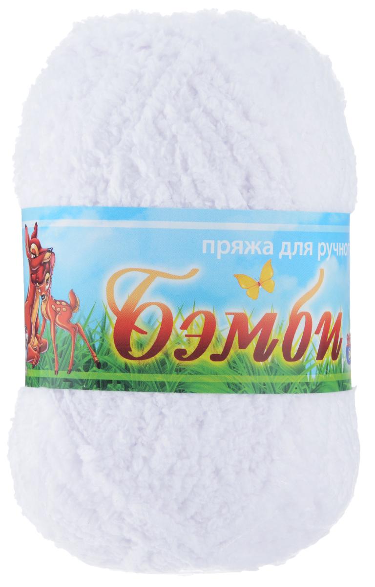 Пряжа для вязания Nazar Бэмби, цвет: белый (2501), 142 м, 50 г, 10 шт580824_2501 белыйПряжа для ручного вязания Nazar Бэмби изготовлена из 100% микрополиэстера. Это очень мягкая, плюшевая пряжа с коротким ворсом. Идеально подходит для вязания детской одежды - вещи получаются нежными и приятными на ощупь. Также хорошо получаются игрушки, пледы, декоративные подушки. Рекомендуемые спицы 3-4 мм, крючок - 2-3 мм. Состав: 100% микрополиэстер. Количество мотков: 10 шт.
