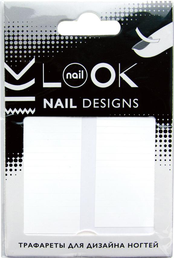 nailLOOK Трафареты для дизайна ногтей Tip Guides50218Самоклеящиеся трафареты используются для создания классического французского маникюра, модного лунного маникюра, а также необычных дизайнов.