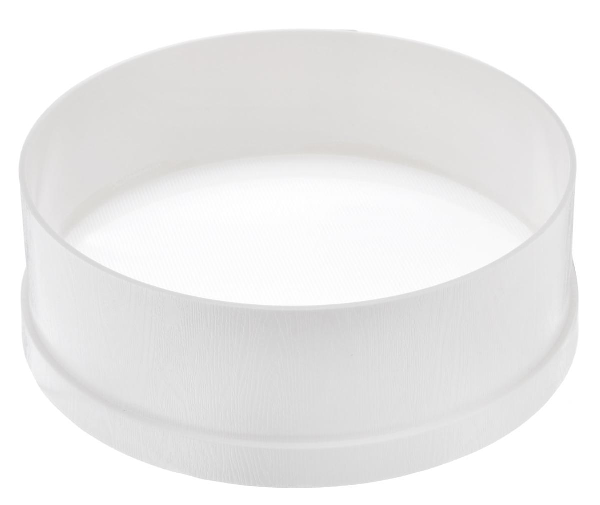 Сито Cosmoplast, цвет: белый, диаметр 23 см. 41284128_белыйСито Cosmoplast, выполненное из высококачественного пищевого пластика, станет незаменимым аксессуаром на вашей кухне. Оно предназначено для просеивания и процеживания муки. Такое сито станет достойным дополнением к кухонному инвентарю. Диаметр сита: 23 см. Высота стенки: 8 см.