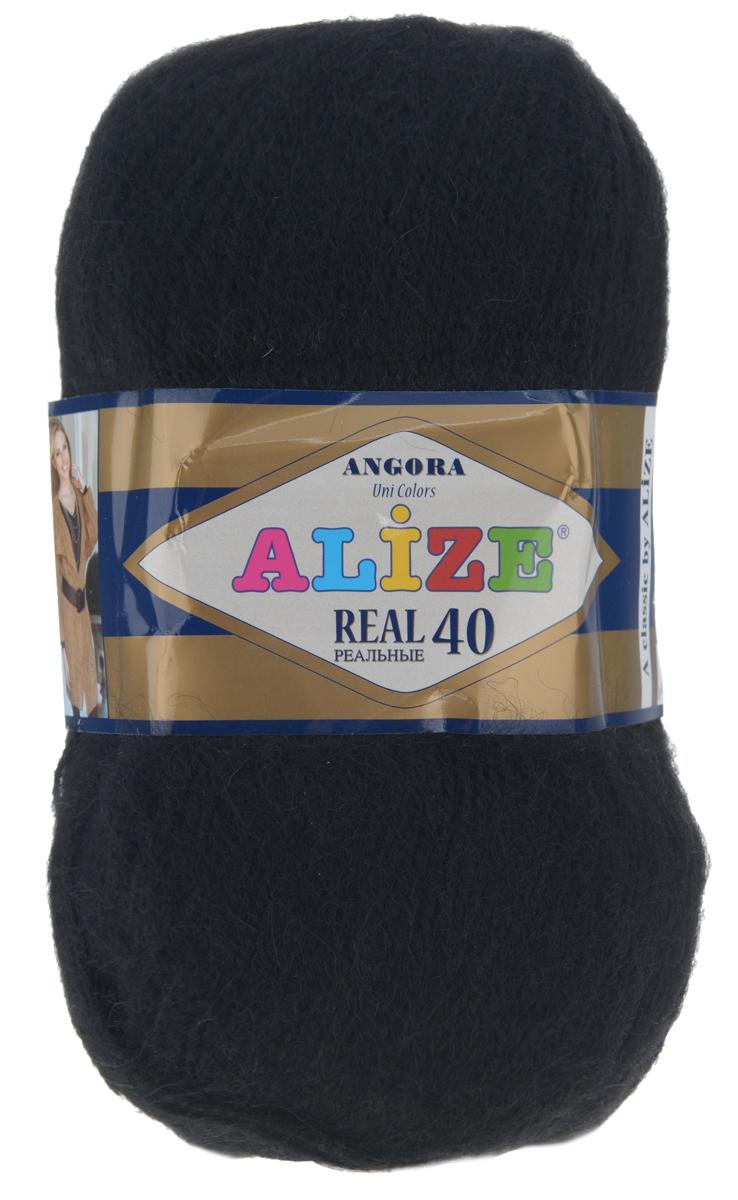 Пряжа для вязания Alize Angora Real, цвет: черный (60), 480 м, 100 г, 5 шт551390_60Alize Angora Real - это ровная, тонкая и пушистая пряжа, изготовленная из 60% акрила и 40% шерсти. Нить не вытягивается, достаточно прочная и крепкая.Такая пряжа идеально подойдет для вязания зимних вещей (шарфов, жилетов, пуловеров), с различными ажурными узорами. Вещи, связанные из этой пряжи, хорошо и долго носятся, не выгорают и не линяют. Предназначена для ручного вязания спицами и крючком. Рекомендуемый размер спиц 2,5-5 мм и крючка 1-4 мм. Комплектация: 5 мотков. Состав: 60% акрил, 40% шерсть.