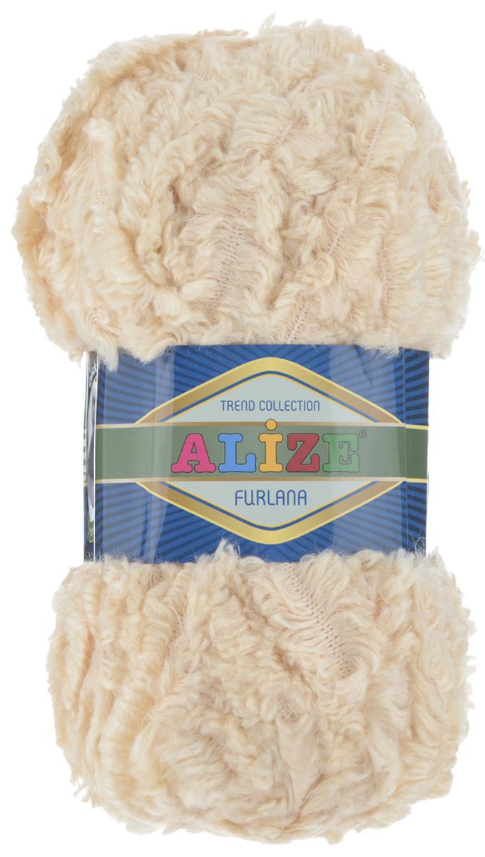 Пряжа для вязания Alize Furlana, цвет: светло-бежевый (680), 40 м, 100 г, 5 шт582007_680Alize Furlana - это полушерстяная пряжа для ручного вязания, имитирующая мех с натуральной текстурой. Нить плотно скручена, гибкая, послушная. Стойкое равномерное окрашивание обеспечивает широкую палитру оттенков, высокое качество материала и используемых красителей защищает от потери цвета. Соотношение шерсти и акрила - формула практичности. Высокие тепловые характеристики сочетаются с эстетикой, носкостью и простотой ухода за вещью. Классическая пряжа для зимнего сезона, может использоваться для детской и взрослой одежды. Alize Furlana - универсальная пряжа, которая будет хорошо смотреться в узорах любой сложности. Рекомендуемые спицы для вязания: № 8-12. Комплектация: 5 мотков. Состав: 45% шерсть, 45% акрил, 10% полиамид.
