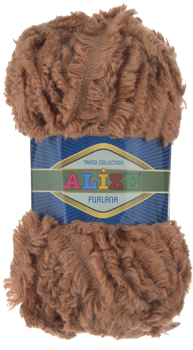 Пряжа для вязания Alize Furlana, цвет: коричневый (179), 40 м, 100 г, 5 шт582007_179Alize Furlana - это полушерстяная пряжа для ручного вязания, имитирующая мех с натуральной текстурой. Нить плотно скручена, гибкая, послушная. Стойкое равномерное окрашивание обеспечивает широкую палитру оттенков, высокое качество материала и используемых красителей защищает от потери цвета. Соотношение шерсти и акрила - формула практичности. Высокие тепловые характеристики сочетаются с эстетикой, носкостью и простотой ухода за вещью. Классическая пряжа для зимнего сезона, может использоваться для детской и взрослой одежды. Alize Furlana - универсальная пряжа, которая будет хорошо смотреться в узорах любой сложности. Рекомендуемые спицы для вязания: № 8-12. Комплектация: 5 мотков. Состав: 45% шерсть, 45% акрил, 10% полиамид.