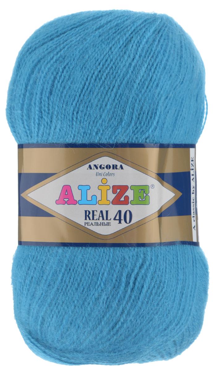 Пряжа для вязания Alize Angora Real, цвет: темно-голубой (245), 480 м, 100 г, 5 шт551390_245Alize Angora Real - это ровная, тонкая и пушистая пряжа, изготовленная из 60% акрила и 40% шерсти. Нить не вытягивается, достаточно прочная и крепкая.Такая пряжа идеально подойдет для вязания зимних вещей (шарфов, жилетов, пуловеров), с различными ажурными узорами. Вещи, связанные из этой пряжи, хорошо и долго носятся, не выгорают и не линяют. Предназначена для ручного вязания спицами и крючком. Рекомендуемый размер спиц 2,5-5 мм и крючка 1-4 мм. Комплектация: 5 мотков. Состав: 60% акрил, 40% шерсть.
