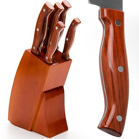 Набор ножей Mayer & Boch, 6 предметоа. 2361823618Набор ножей 6пр Материал: Нержавеющая сталь Ручка: АБС пластик Подставка: Дерево -Нож поварской 20.3см -Нож хлебный 20.3см -Нож разделочный 20.3см -Нож универсальный 12.7см -Нож для очистки 8.9см Размер коробки: 15.7х9.3х34см Вес: 1.65кг Набор MayerBoch предоставит вам все необходимые возможности в успешном приготовлении пищи и порадует вас своими результатами. При изготовлении ножей используется высоко-углеродистая каленая сталь , которая обеспечивает высокие режущие свойства кромки клинка. Сечение клинка ножей - клинообразно, что позволяет режущей кромке быть продолжительное время острой. Рукоятка ножей изготовлена из высококачественного АБС пластика с имитацией под дерево. Предметы набора компактно размещаются в стильной подставке, которая выполнена из высококачественной древесины с полимерным покрытием. Физические и практические свойства данного материала гарантируют длительный эксплуатационный период.