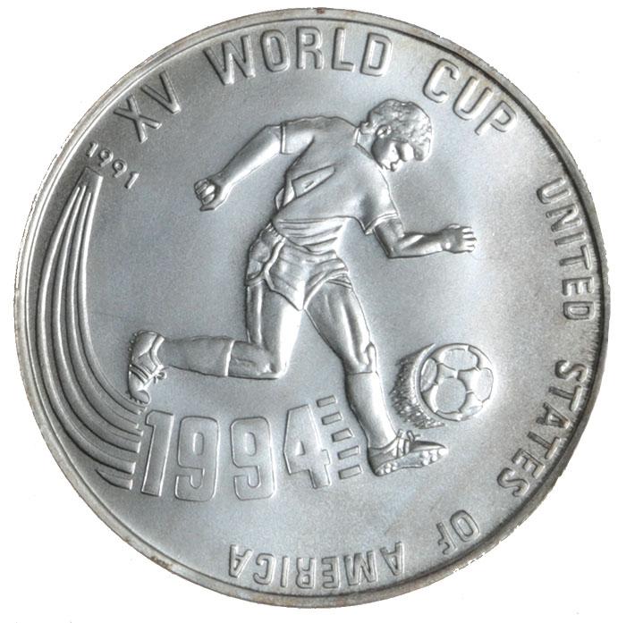 Монета номиналом 20 риелей XV Чемпионат мира по футболу, Камбоджа. 1991 год739Диаметр: 4 см. Качество чеканки: UNC Тираж: 30000 экземпляров