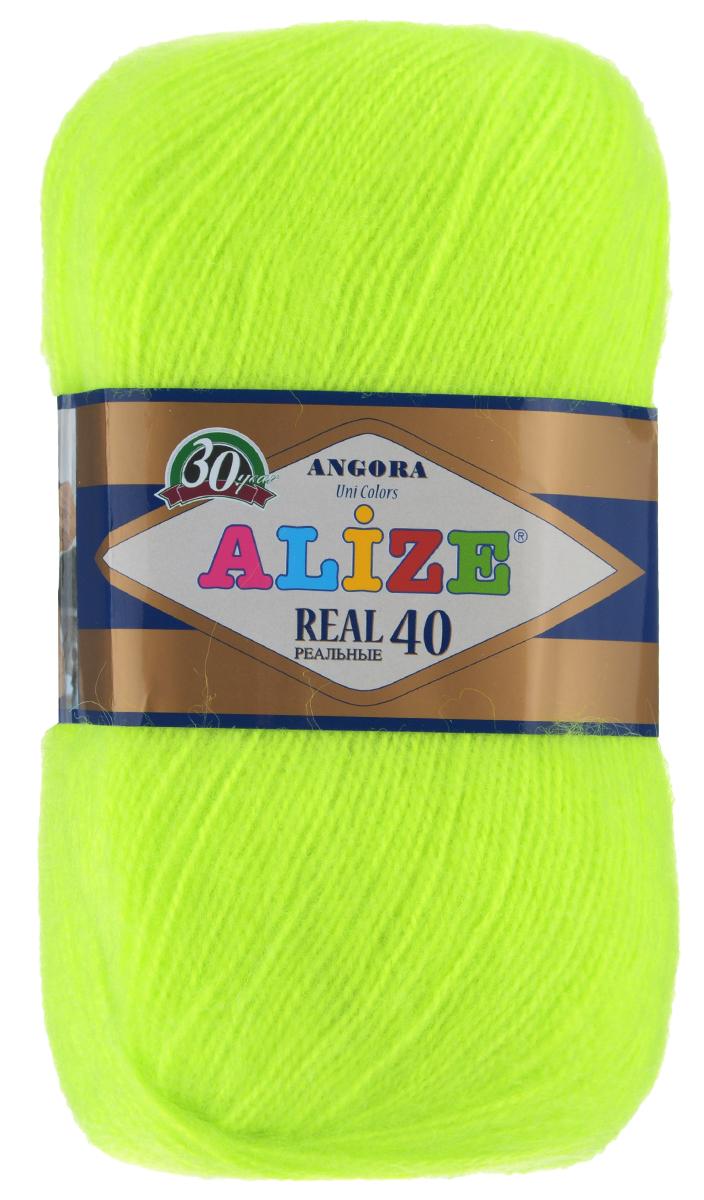 Пряжа для вязания Alize Angora Real, цвет: желто-зеленый (552), 480 м, 100 г, 5 шт551390_552Alize Angora Real - это ровная, тонкая и пушистая пряжа, изготовленная из 60% акрила и 40% шерсти. Нить не вытягивается, достаточно прочная и крепкая.Такая пряжа идеально подойдет для вязания зимних вещей (шарфов, жилетов, пуловеров), с различными ажурными узорами. Вещи, связанные из этой пряжи, хорошо и долго носятся, не выгорают и не линяют. Предназначена для ручного вязания спицами и крючком. Рекомендуемый размер спиц 2,5-5 мм и крючка 1-4 мм. Комплектация: 5 мотков. Состав: 60% акрил, 40% шерсть.