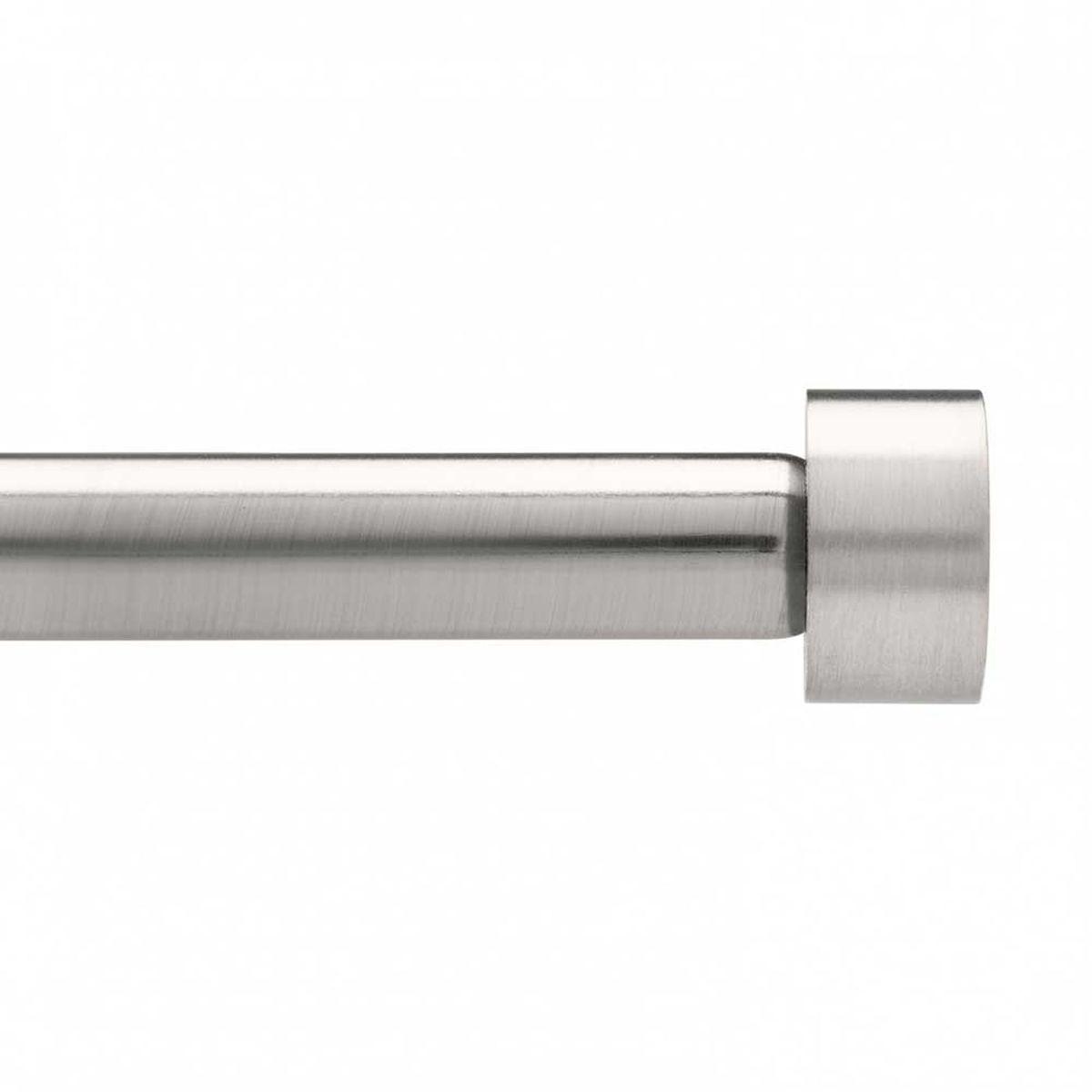 Карниз Umbra Cappa (91-183 см) никель. 244993-411244993-411Универсальный карниз для любого интерьера Cappa имеет телескопическую конструкцию, которая позволяет регулировать его длину, и металлические украшения в виде насадок по краям. Диаметр 1,9 см. Крепления идут в комплекте.