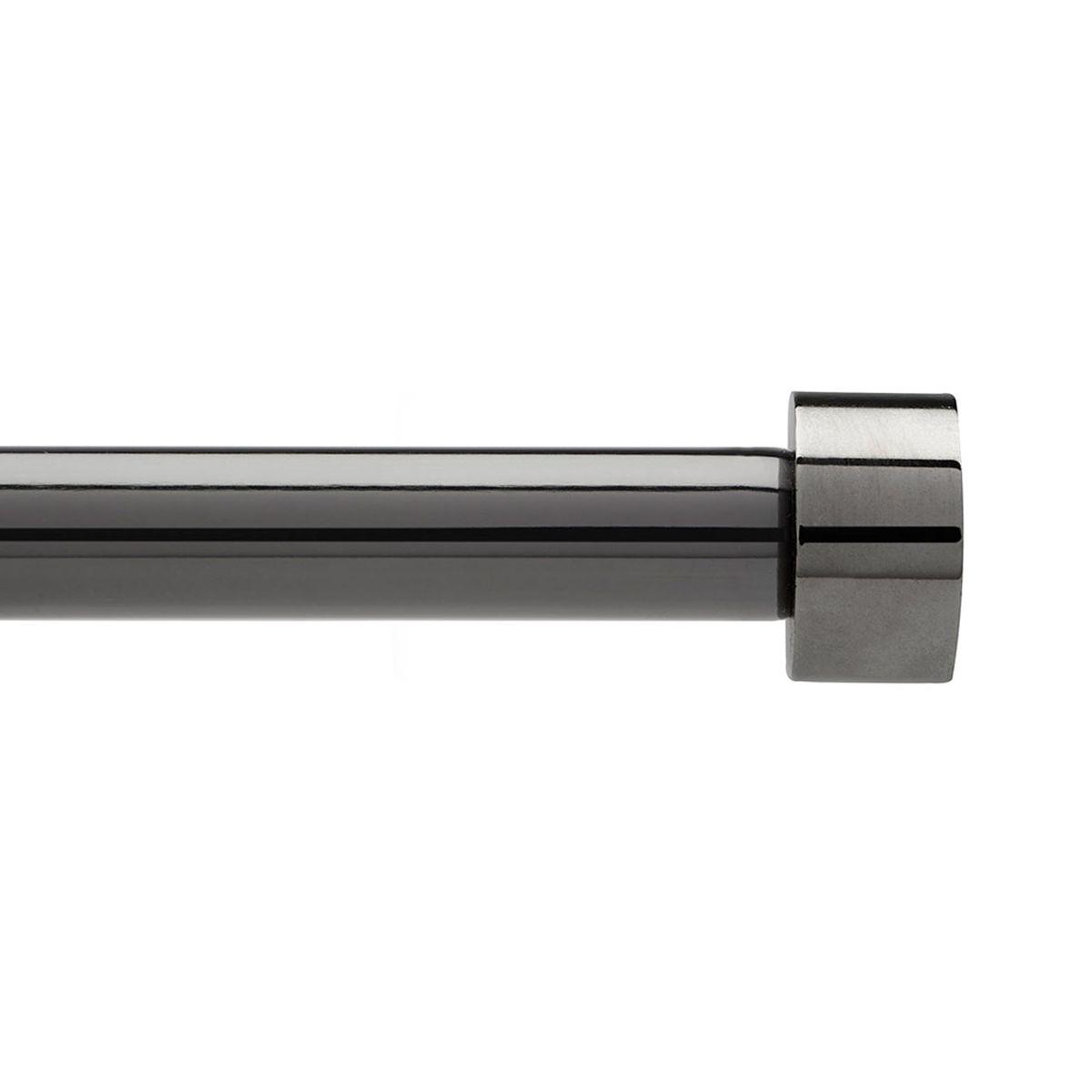 Карниз Umbra Cappa (91-183 см) титан. 244993-624244993-624Универсальный карниз для любого интерьера Cappa имеет телескопическую конструкцию, которая позволяет регулировать его длину, и металлические украшения в виде насадок по краям. Диаметр 1,9 см. Крепления идут в комплекте.