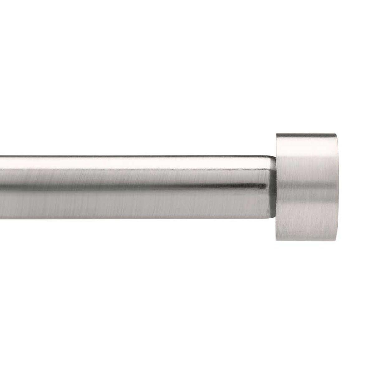 Карниз Umbra Cappa (183-366 см) никель. 244997-411244997-411Универсальный карниз для любого интерьера Cappa имеет телескопическую конструкцию, которая позволяет регулировать его длину, и металлические украшения в виде насадок по краям. Диаметр 1,9 см. Крепления идут в комплекте.