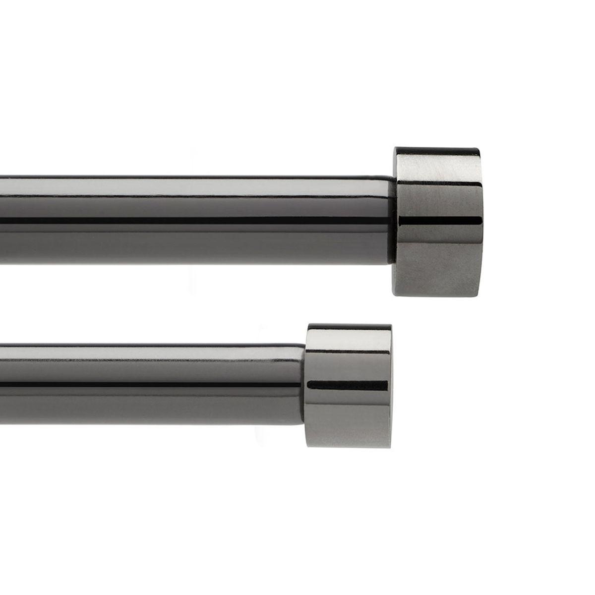 Карниз двухрядный Umbra Cappa, цвет: графит, длина 183-366 см245967-624Двухрядный карниз Umbra Cappa выполнен из нержавеющей стали. Имеет телескопическую конструкцию, которая позволяет регулировать его длину, и металлические украшения в виде насадок по краям. Такой карниз будет органично смотреться в любом интерьере. Диаметр переднего карниза: 19 мм. Диаметр заднего карниза: 16 мм. Крепления идут в комплекте.