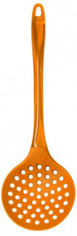 Шумовка МФК-профит Color Teflon, цвет: оранжевый, длина 34 смMFK01149_оранжевыйШумовка МФК-профит Color Teflon, изготовленная из нейлона и акрила, поможет в приготовлении и сервировки блюд. Удобная рукоятка оснащена небольшим отверстием, за которое изделие можно подвесить в любом удобном для вас месте. Практичная и удобная шумовка займет достойное место среди аксессуаров на вашей кухне. Можно мыть в посудомоечной машине. Длина шумовки: 34 см. Диаметр рабочей части шумовки: 10,8 см.