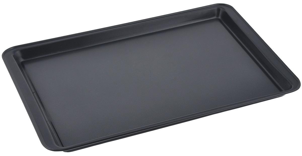 Противень для выпечки печенья Miolla, прямоугольный, с антипригарным покрытием, цвет: серый, 37 х 26 х 1,6 см1001039UПротивень для выпечки печенья Miolla выполнен из углеродистой стали с антипригарным покрытием. Технология антипригарного покрытия способствует оптимальному распределению тепла. Противень легко чистить и мыть. Можно использовать в духовом шкафу и мыть в посудомоечной машине. Не подходит для микроволновой печи. Внешний размер противня: 37 см х 26 см х 1,6 см. Внутренний размер противня: 33,5 см х 23,5 см. Толщина стенки: 1,5 мм. Толщина дна: 1,5 мм.