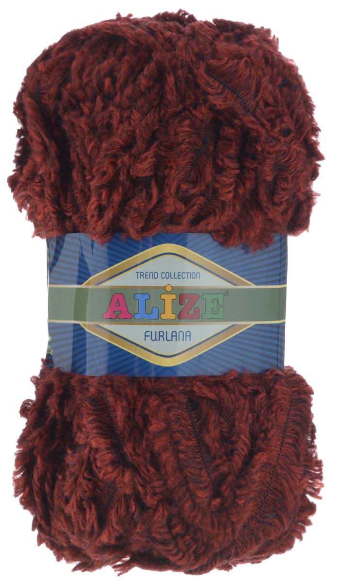 Пряжа для вязания Alize Furlana, цвет: бордовый (559), 40 м, 100 г, 5 шт582007_559Alize Furlana - это полушерстяная пряжа для ручного вязания, имитирующая мех с натуральной текстурой. Нить плотно скручена, гибкая, послушная. Стойкое равномерное окрашивание обеспечивает широкую палитру оттенков, высокое качество материала и используемых красителей защищает от потери цвета. Соотношение шерсти и акрила - формула практичности. Высокие тепловые характеристики сочетаются с эстетикой, носкостью и простотой ухода за вещью. Классическая пряжа для зимнего сезона, может использоваться для детской и взрослой одежды. Alize Furlana - универсальная пряжа, которая будет хорошо смотреться в узорах любой сложности. Рекомендуемые спицы для вязания: № 8-12. Комплектация: 5 мотков. Состав: 45% шерсть, 45% акрил, 10% полиамид.