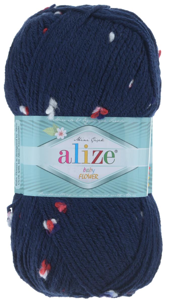 Пряжа для вязания Alize Baby Flower, цвет: темно-синий, красный, белый (5426), 210 м, 100 г, 5 шт582006_5426Alize Baby Flower - это фантазийная теплая и мягкая пряжа, изготовленная из 94% акрила и 6% полиамида. Такая пряжа идеально подойдет для изготовления всевозможных детских изделий (жилетов, платьиц, а также подходит для вязания шапок, шарфов, снудов). Изделия практичны в носке и уходе. Рекомендуемый размер спиц 3,5-4,5 мм и крючка 2-3 мм. Комплектация: 5 мотков. Состав: 94% акрил, 6% полиамид.