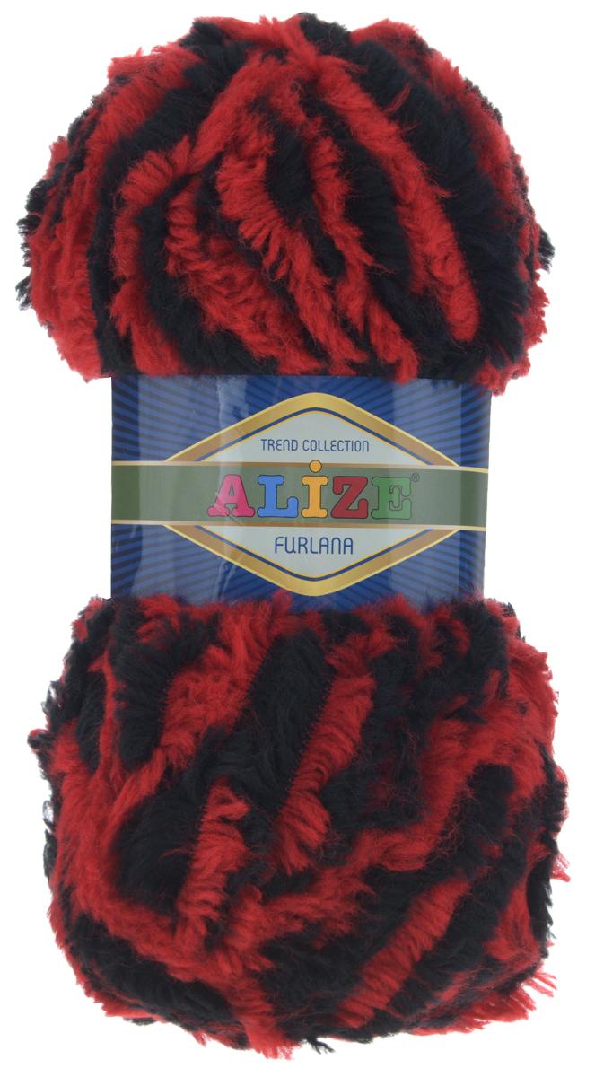 Пряжа для вязания Alize Furlana, цвет: красный, черный (5445), 40 м, 100 г, 5 шт582007_5445Alize Furlana - это полушерстяная пряжа для ручного вязания, имитирующая мех с натуральной текстурой. Нить плотно скручена, гибкая, послушная. Стойкое равномерное окрашивание обеспечивает широкую палитру оттенков, высокое качество материала и используемых красителей защищает от потери цвета. Соотношение шерсти и акрила - формула практичности. Высокие тепловые характеристики сочетаются с эстетикой, носкостью и простотой ухода за вещью. Классическая пряжа для зимнего сезона, может использоваться для детской и взрослой одежды. Alize Furlana - универсальная пряжа, которая будет хорошо смотреться в узорах любой сложности. Рекомендуемые спицы для вязания: № 8-12. Комплектация: 5 мотков. Состав: 45% шерсть, 45% акрил, 10% полиамид.