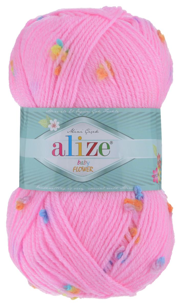 Пряжа для вязания Alize Baby Flower, цвет: розовый, голубой, желтый (5382), 210 м, 100 г, 5 шт582006_5382Alize Baby Flower - это фантазийная теплая и мягкая пряжа, изготовленная из 94% акрила и 6% полиамида. Такая пряжа идеально подойдет для изготовления всевозможных детских изделий (жилетов, платьиц, а также подходит для вязания шапок, шарфов, снудов). Изделия практичны в носке и уходе. Рекомендуемый размер спиц 3,5-4,5 мм и крючка 2-3 мм. Комплектация: 5 мотков. Состав: 94% акрил, 6% полиамид.