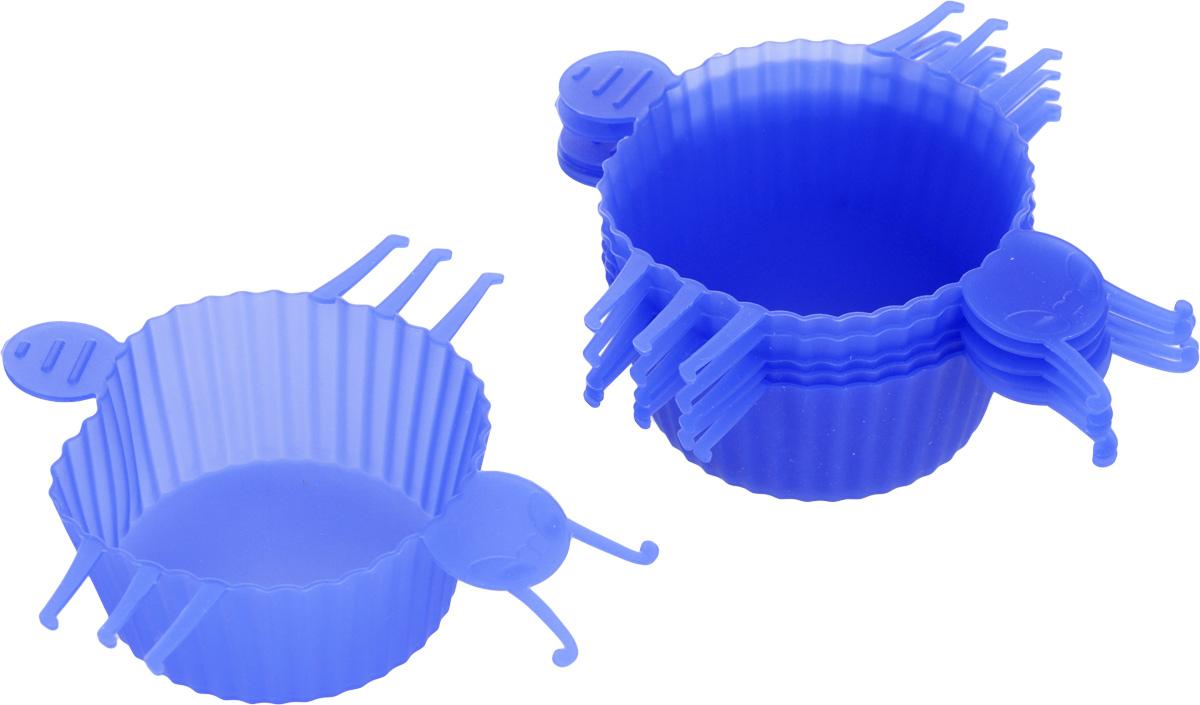 Набор форм для выпечки Mayer & Boch Букашка, цвет: синий, 6 шт3721Набор Mayer & Boch Букашка состоит из шести форм для выпечки, изготовленных из высококачественного силикона. Если вы любите побаловать своих домашних вкусным и ароматным угощением по вашему оригинальному рецепту, то набор форм Mayer & Boch Букашка как раз то, что вам нужно! Объем формы: 75 мл. Размер формы: 10 х 11 х 3 см.