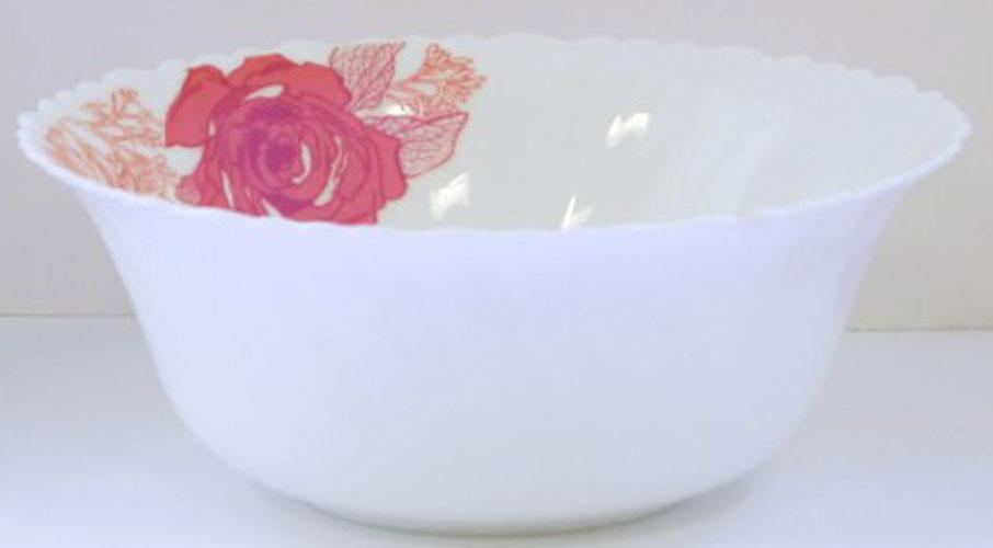 Салатник Chinbull Ля Руж, диаметр 23,5 смOLHW-90/309-2Салатник Chinbull Ля Руж выполнен из высококачественной стеклокерамики и декорирован ярким изображением цветов. Салатник сочетает в себе изысканный дизайн с максимальной функциональностью. Он прекрасно впишется в интерьер вашей кухни и станет достойным дополнением к кухонному инвентарю. Салатник Chinbull Ля Руж не только украсит ваш кухонный стол и подчеркнет прекрасный вкус хозяйки, но и станет отличным подарком. Диаметр (по верхнему краю): 23,5 см. Высота стенки: 9 см.