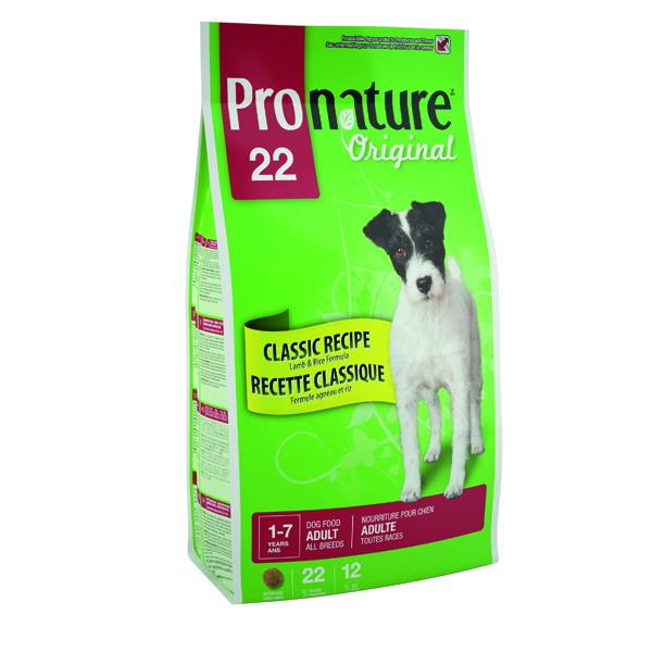 """Корм сухой Pronature """"Original 22"""" для собак, с ягненком и рисом, 2,72кг 25754"""