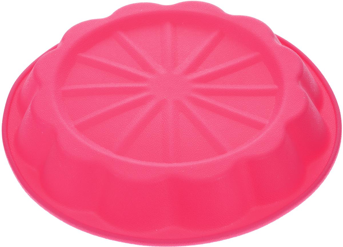 Форма для выпечки Marmiton Апельсин, цвет: розовый, диаметр 24,5 см16031_розовыйФорма Marmiton Апельсин выполнена из силикона, благодаря этому выпечку вынимать легко и просто. Материал устойчив к фруктовым кислотам, может быть использован в духовках и микроволновых печах. Такая форма идеальна для приготовления разнообразной выпечки, льда, конфет, желе, запеканок, шоколада, пудингов. Изделие выдерживает температуру от -40°С до +240°С. Можно мыть и сушить в посудомоечной машине. Диаметр (по верхнему краю): 24,5 см. Диаметр дна: 19 см. Высота стенки: 3,5 см.