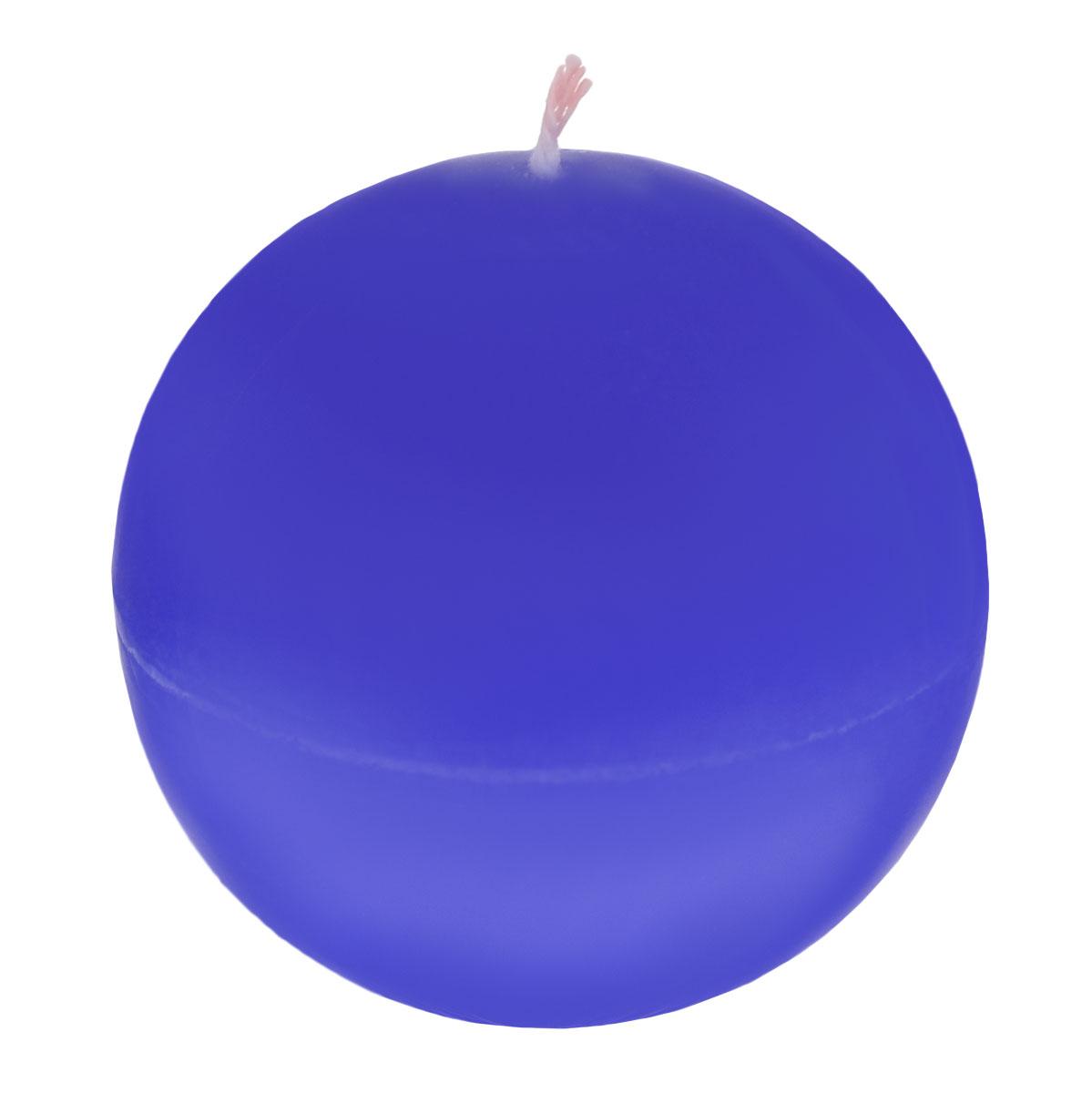 Свеча декоративная Шар, цвет: синий, диаметр 7,5 смPH3453Шарообразная декоративная свеча Proffi Home Шар изготовлена из парафина, стеарина. Предназначена для освещения и украшения помещений. Такая свеча может стать отличным подарком или дополнить интерьер вашей спальни или гостиной.