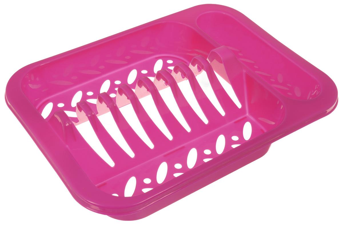 Подставка для посуды Oriental Way, цвет: розовый, 33 х 24 х 7,5 см8808_розовыйПодставка для посуды Oriental Way выполнена из высококачественного прочного пластика. Изделие имеет 8 выемок для сушки тарелок, а также емкость для столовых приборов. Подставка очень компактная и не займет много места на вашей кухне. Стильный яркий дизайн сделает ее красивым дополнением интерьера кухни.